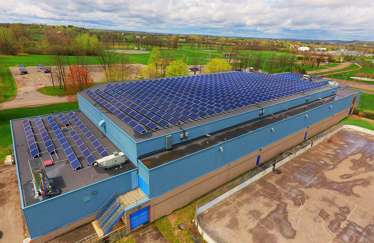Institutional - iSolara Solar Power - MaTeWay Arena, Renfrew, On 160 kW AC Solar Electric